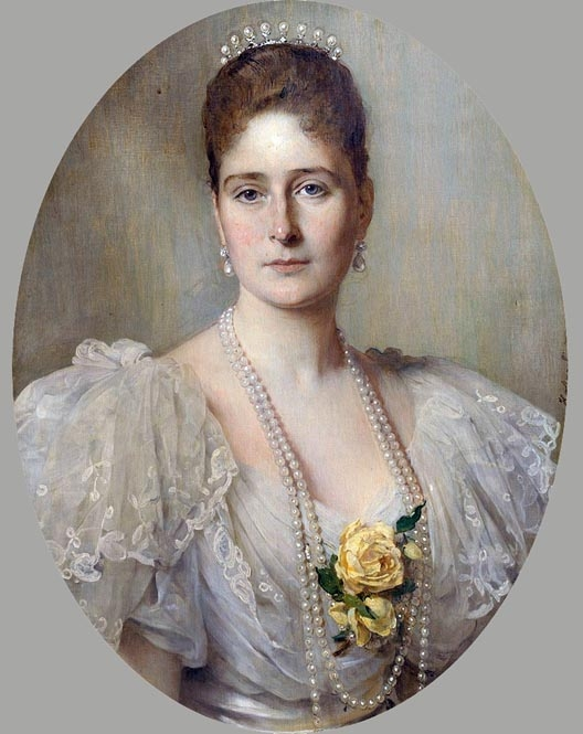 A portrait of the Empress Alexandra