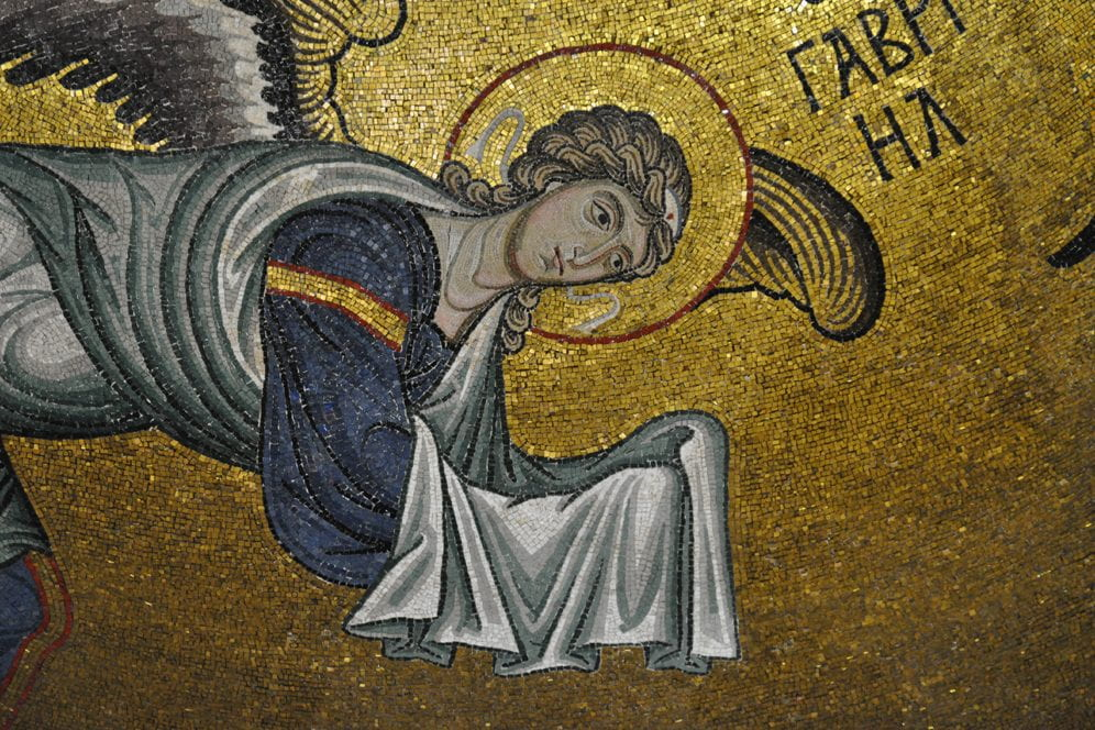 Angel in dome of Byzantine Norman Church