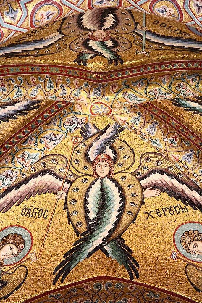 Byzantine Mosaic of Cherubim Angel