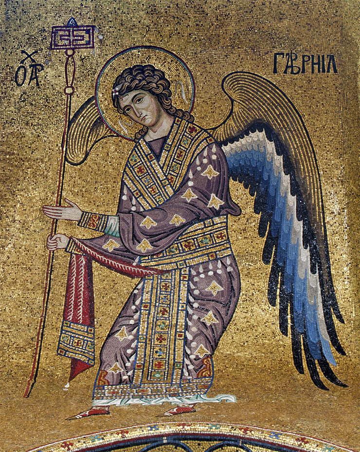 Archangel Gabriel Byzantine Art from Sicily