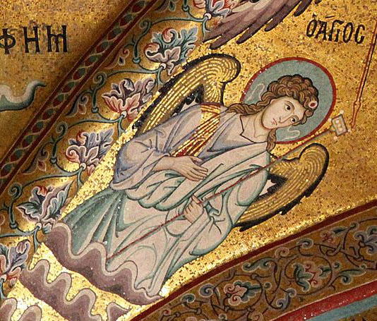 Byzantine angel in Classical dress