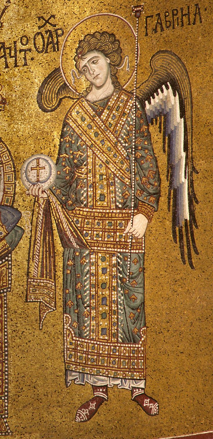 Monreale - Archangel Gabriel in Apse