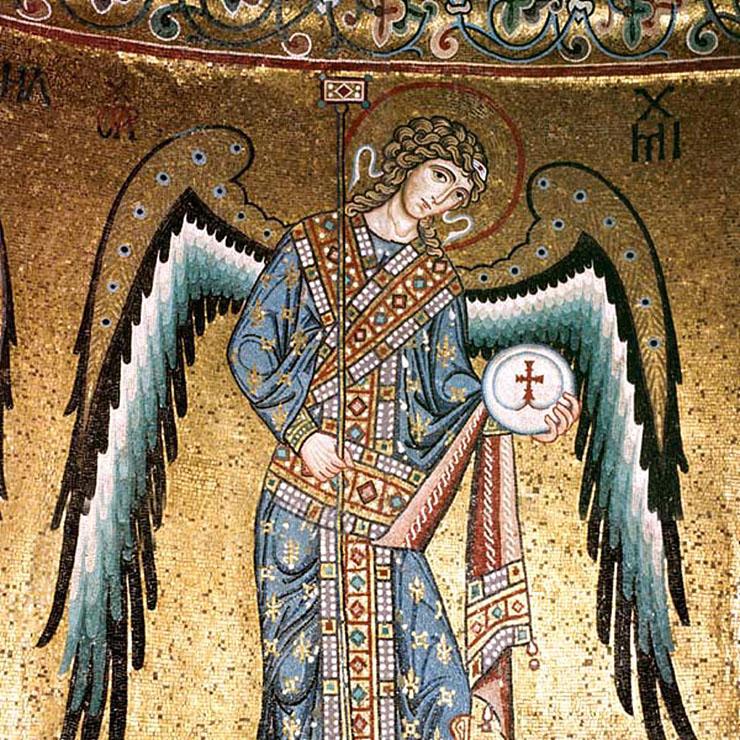 Byzantine Mosaic of Archangel Michael