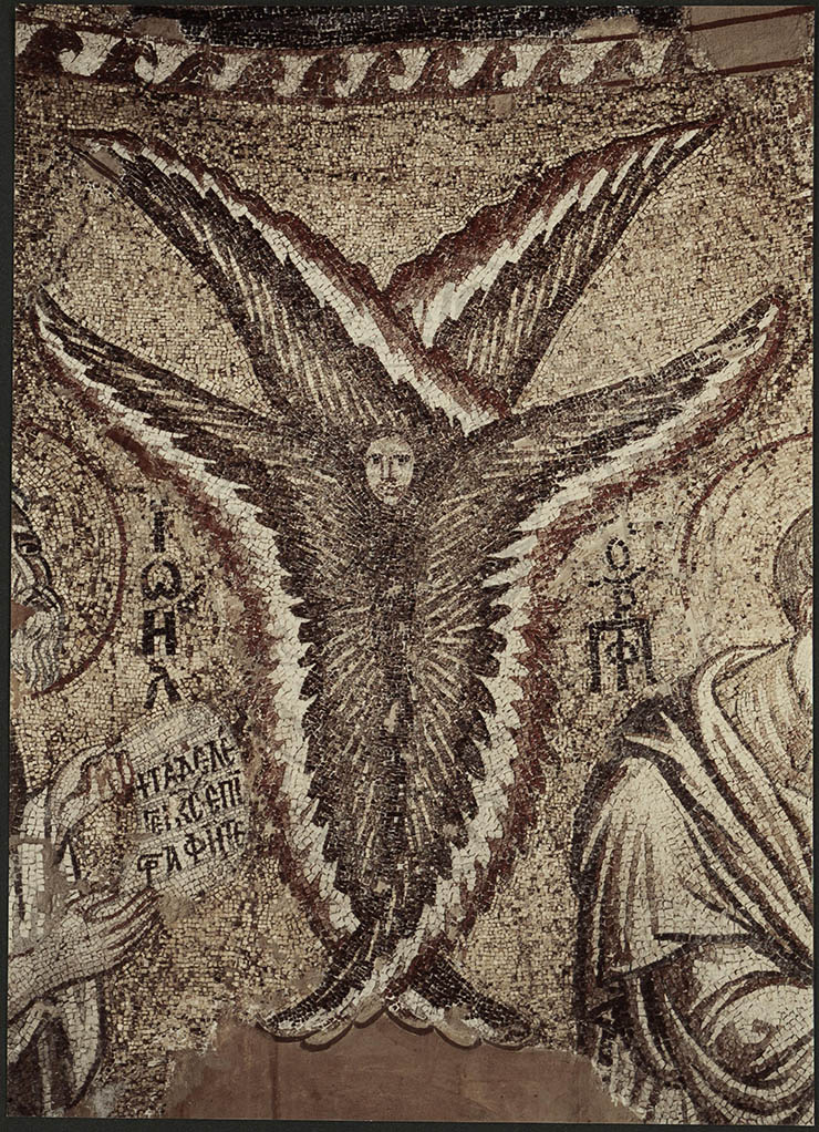 Seraphim Mosaic in Dome Parigortissa Arta