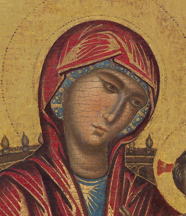 face Mellon Byzantine Madonna
