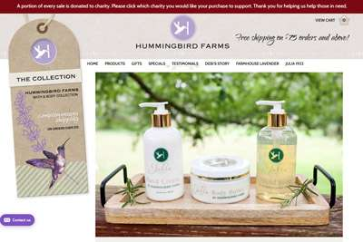 Hummingbird Farms Upgrades Images on their Website
