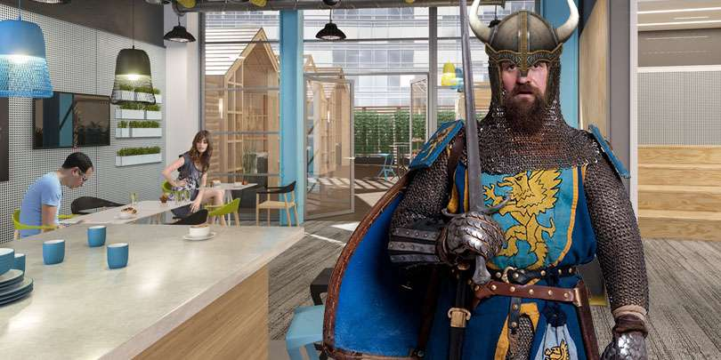 A viking visits our office