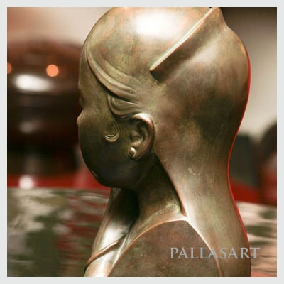 An examplr of an Artistic Patina on a bronze bust