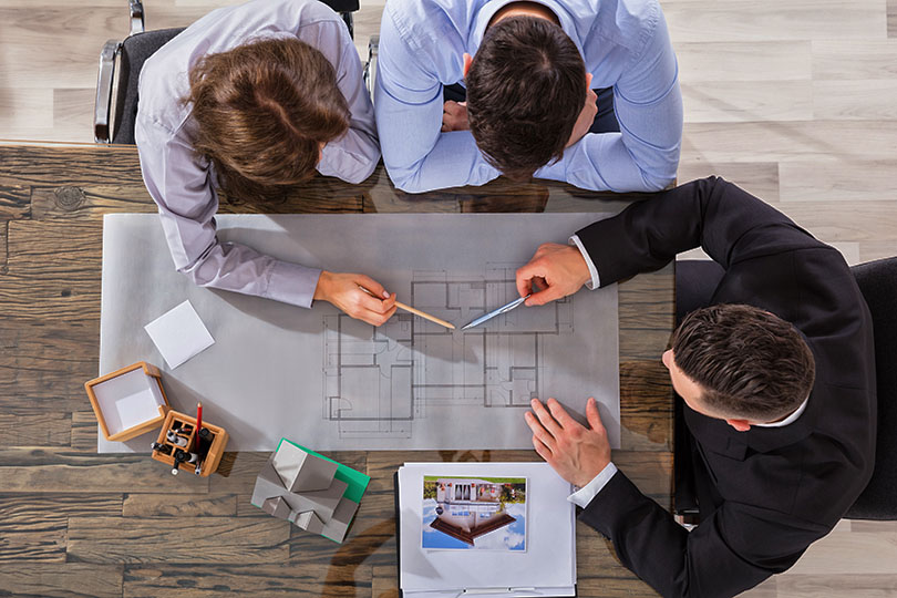 Home Builder Planning With Clients