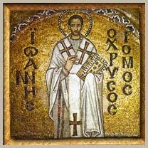 Patriarch John Chrysostom mosaic from Hagia Sophia
