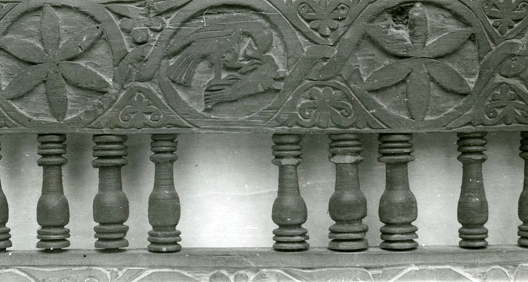 Byzantine wood carving