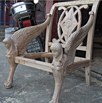 Pavlovsk Sphinx chair in wood