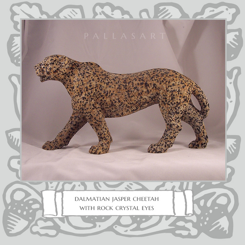 dalmatian jasper cheetah rock crystal eyes