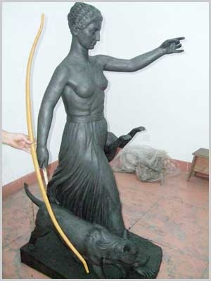 The clay model of Artemis Diana in the foundry