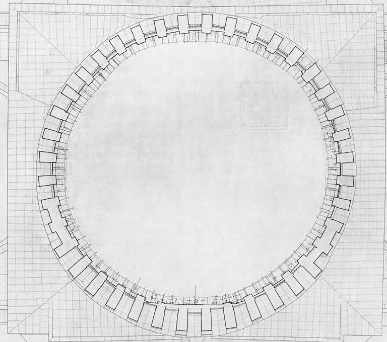plan - dome of Hagia Sophia by Van Nice