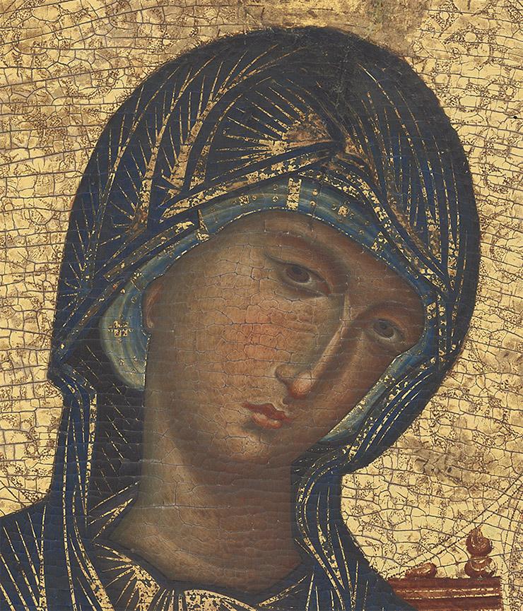 Face of the Kahn Byzantine Theotokos