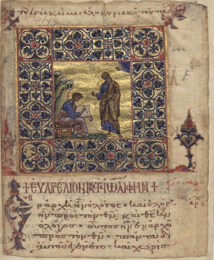 Portrait of Evangelist John Gospels