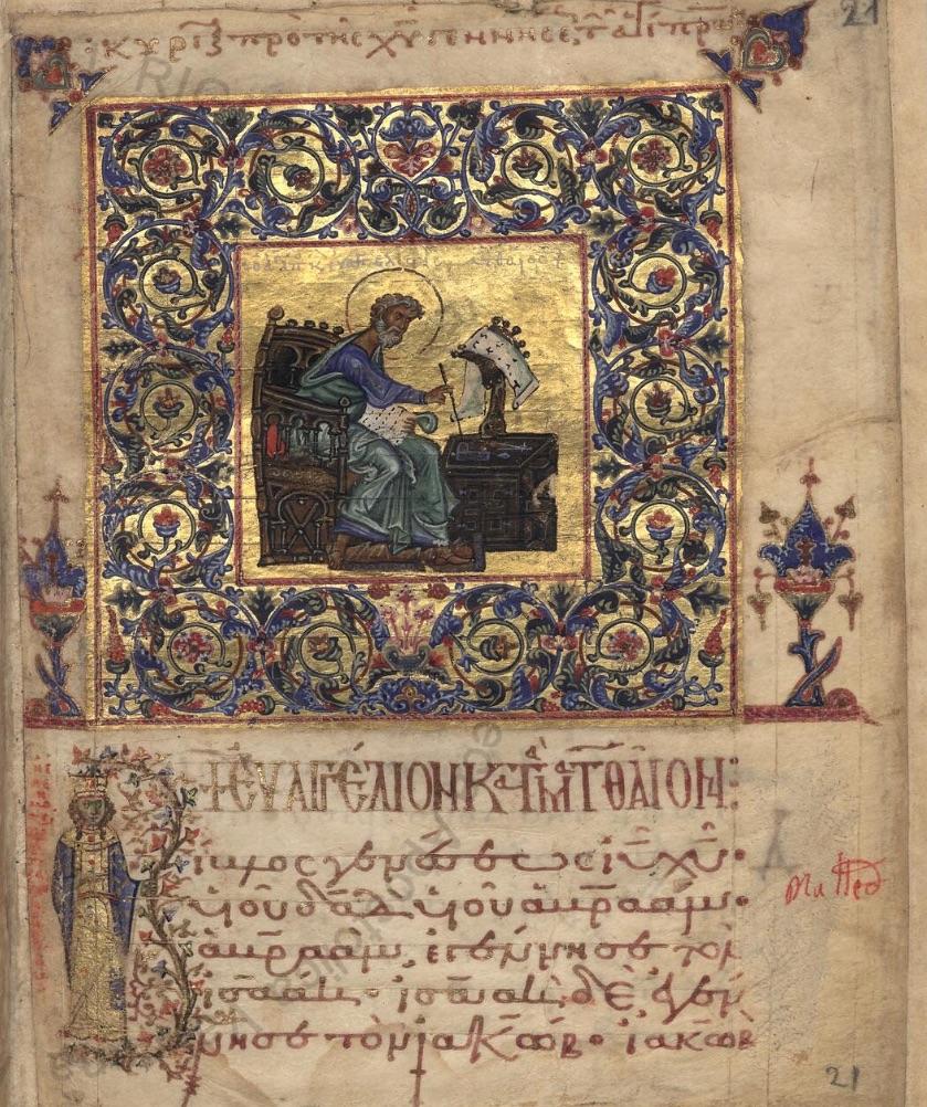 Portrait of Evangelist Matthew