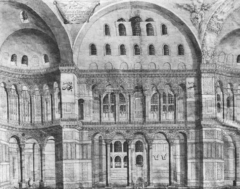 Corneliius Loos Drawing of Hagia Sophia