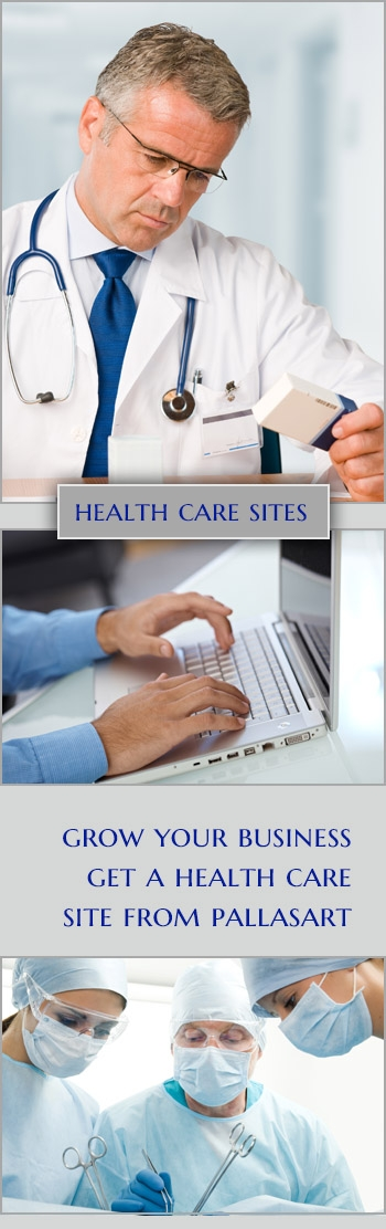 Pallasart builds Health Care Websites