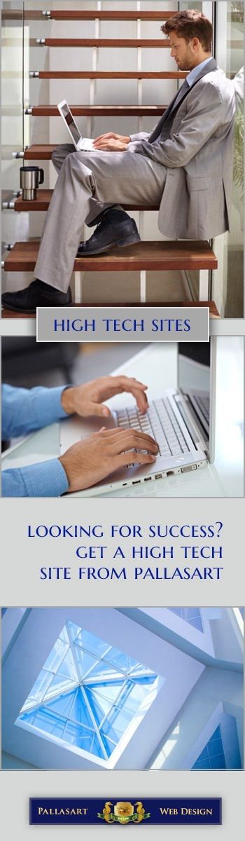 Get a High Tech website from Pallasart in Austin
