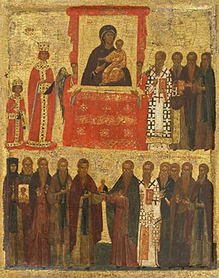 The mystical procession of the Hodegetria Icon