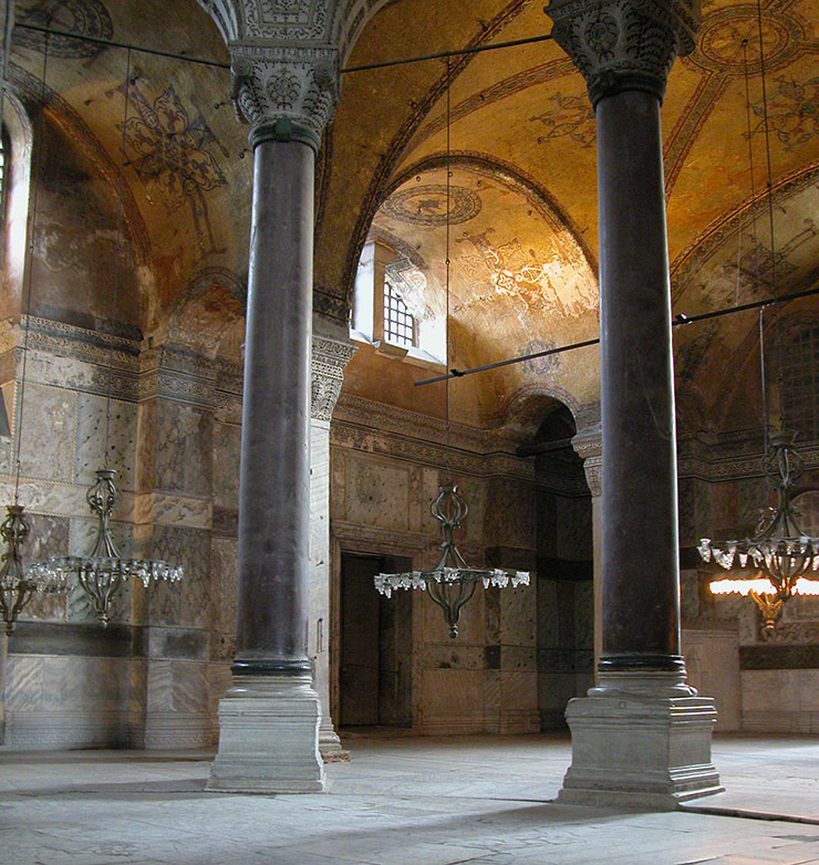 Entrance to the chapel of the Holy Well inside the south aisle of Hagia Sophia