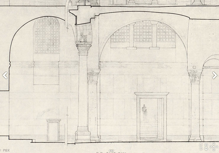 Drawing entrance to the Holy Well Chapel Hagia Sophia