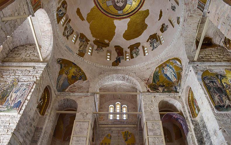 Interior of Daphni Church near Athens