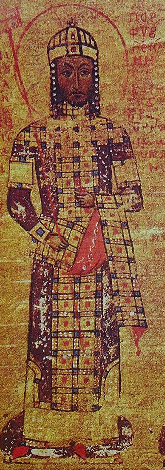 Manuel II Komnenos wearing the Loros