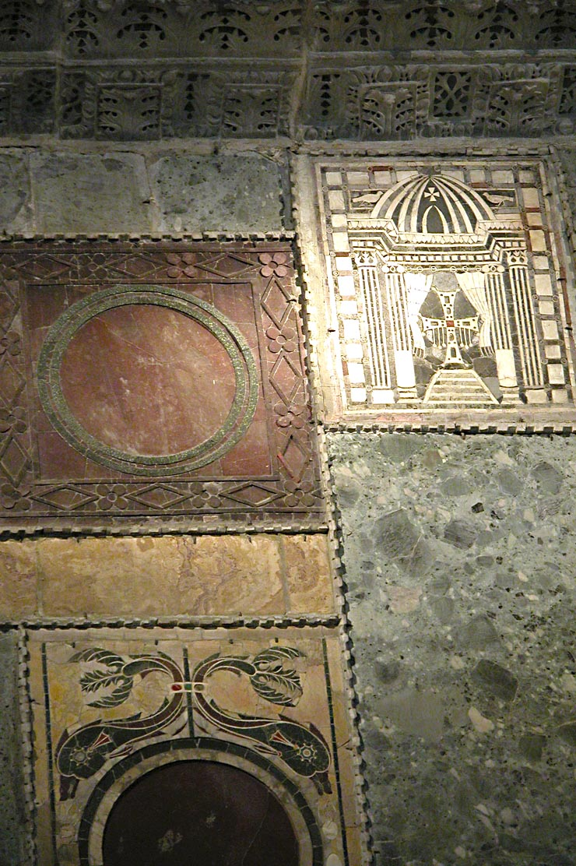 Inlaid Dolphin Panel in Hagia Sophia