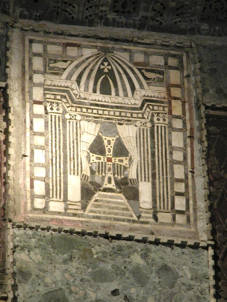 Marble Cross Panel - Hagia Sophia - west wall of nave