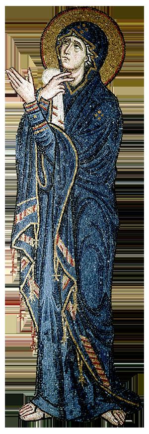 Mary Theotokos - mosaic from Daphni