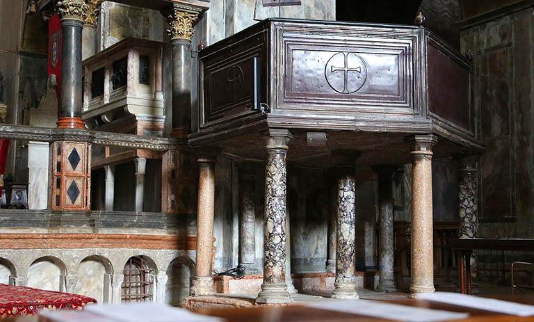 Porphyry Panels metatorium Hagia Sophia
