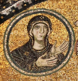 Mary in the Narthex Mosaic of Hagia Sophia