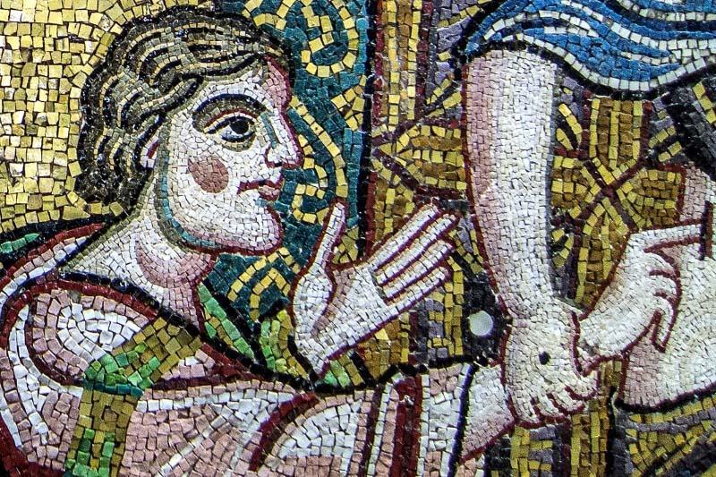 Doubting Thomas mosaic in Bethlehem