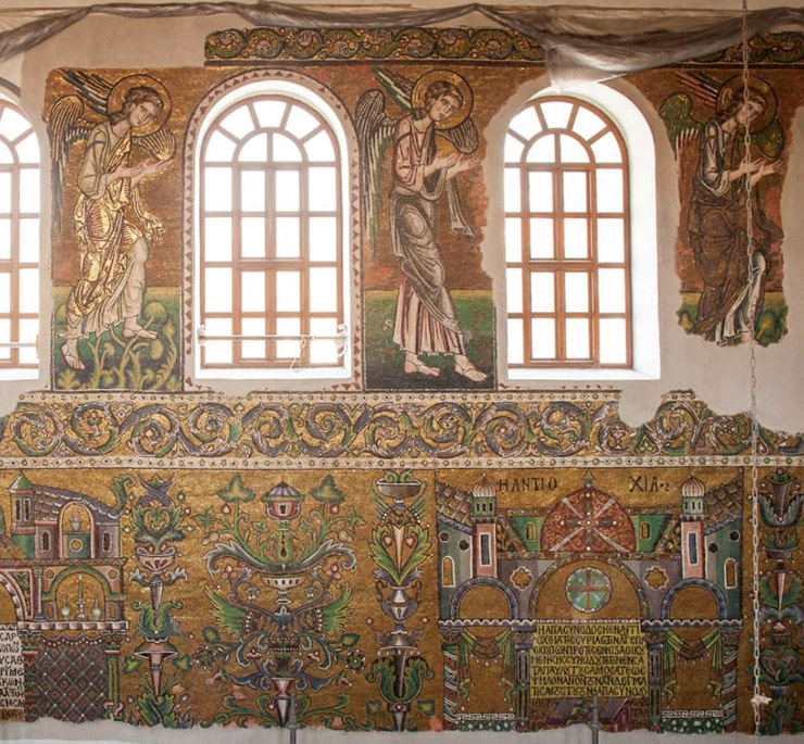 Mosaic angels in Bethlehem