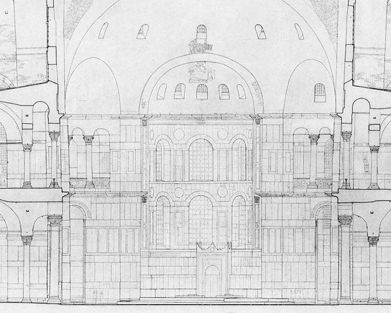 Nave plan of Hagia Sophia