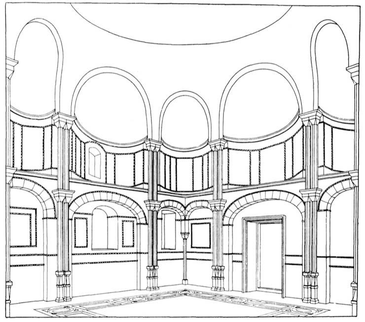 Byzantine Architecture - interior of Nea Moni