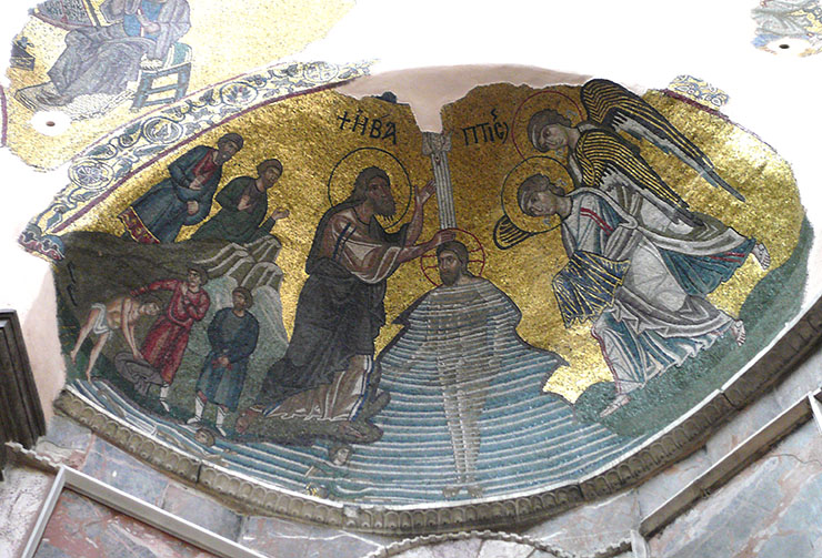 Baptism of Christ in the Jordan - Byzantine Art