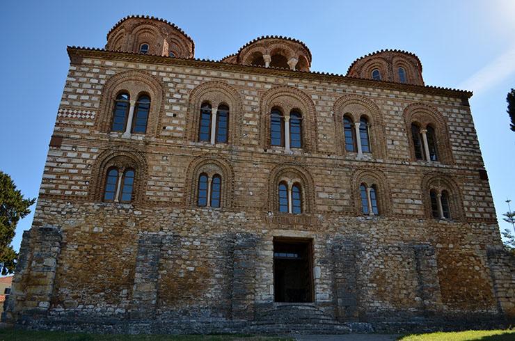 Facade of Byzantine church Parigoritissa in Arta