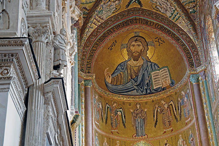 Mosaic of Christ Cefalu Cathedral