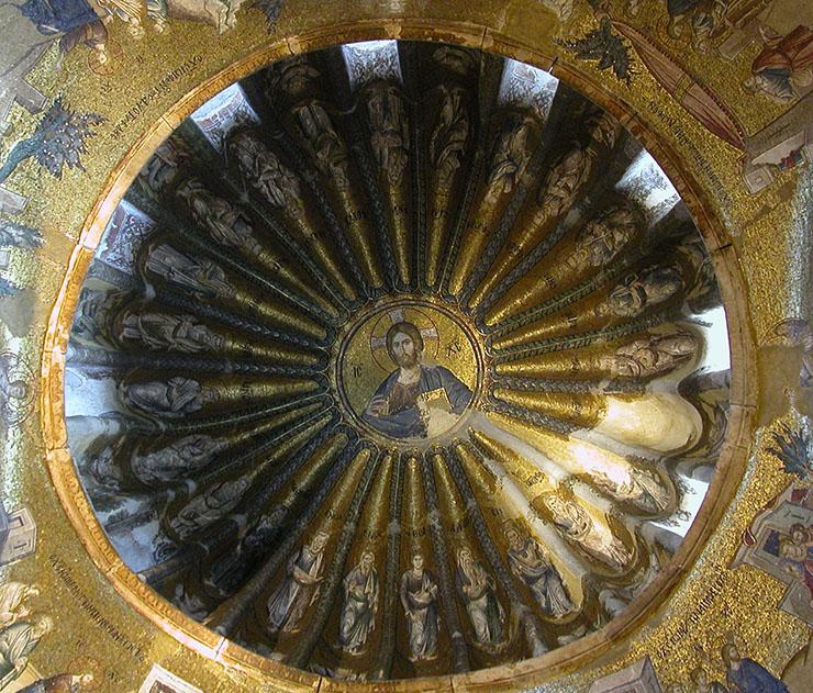 ancestors of Christ dome mosaic Chora Church