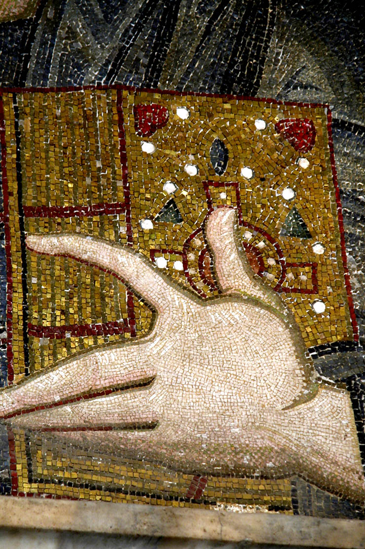 Hand of Christ - gospel - Byzantine Art