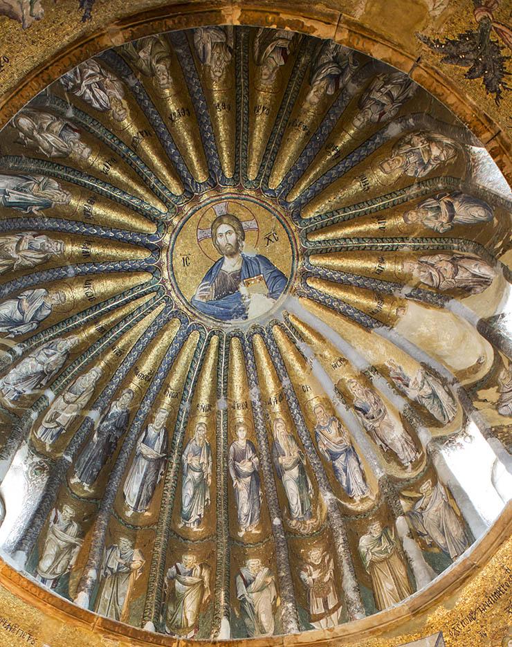 Christ Pantokrator in Dome of Byzantine Church