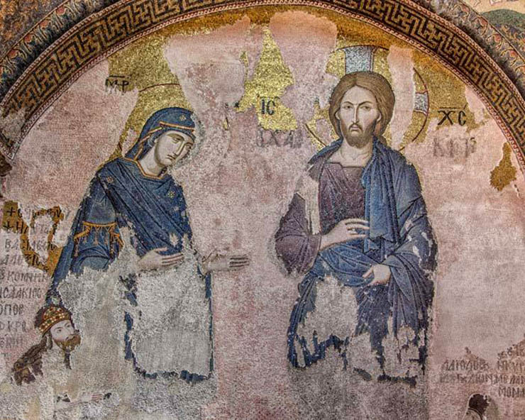 Icon of Christ Deesis - Chora Church in istanbul