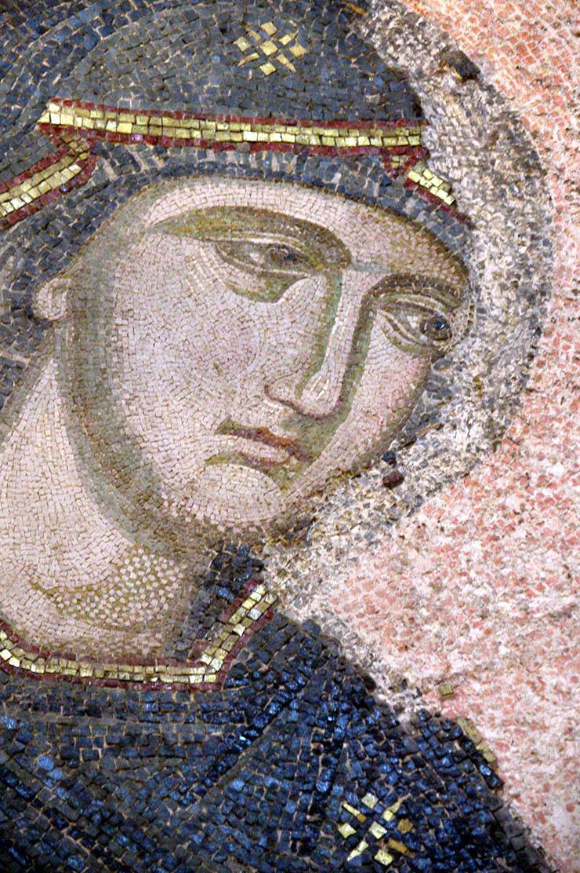 Face of the Theotokos - Byzantine Art