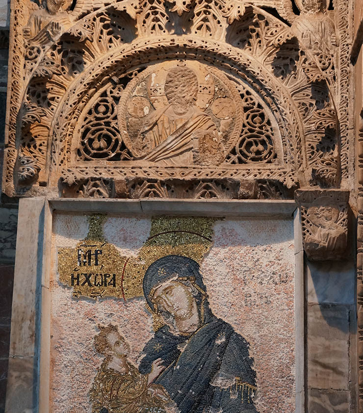 icon of christ destroyed by Turks