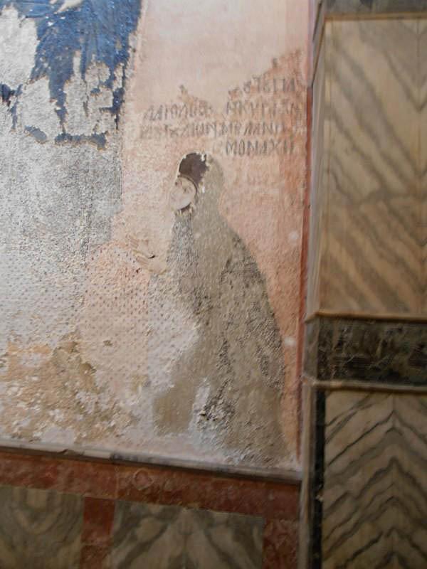 Byzantine Nun mosaic in Chora Church