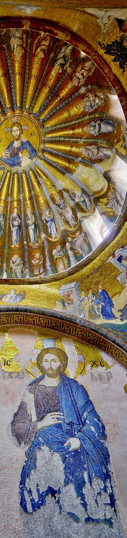 Beautiful mosaics in Chora Byzantine church
